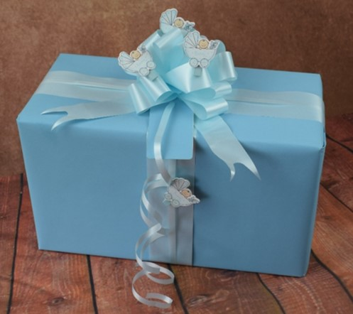 Baby Gift Wrapping Ideas: Examples of Wrapped Baby Gifts