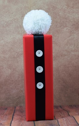 WRAPfinery - Christmas Santa Champagne