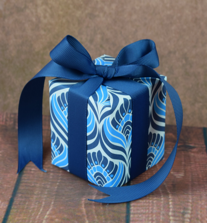 WRAPfinery - Mens Small Blue Patterned