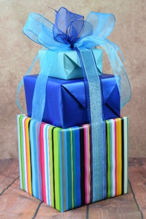 WRAPfinery - Teenager Blue and Striped Stack