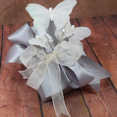 WRAPfinery Weddings - Silver with butterflies