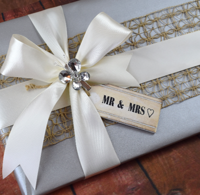 WRAPfinery Weddings - Silver with hessian