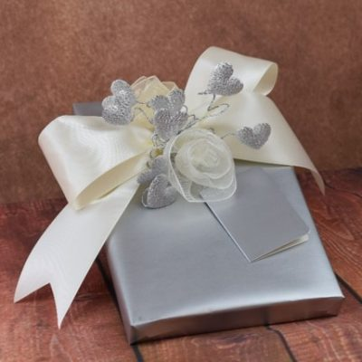 WRAPfinery Weddings - Silver with organza roses