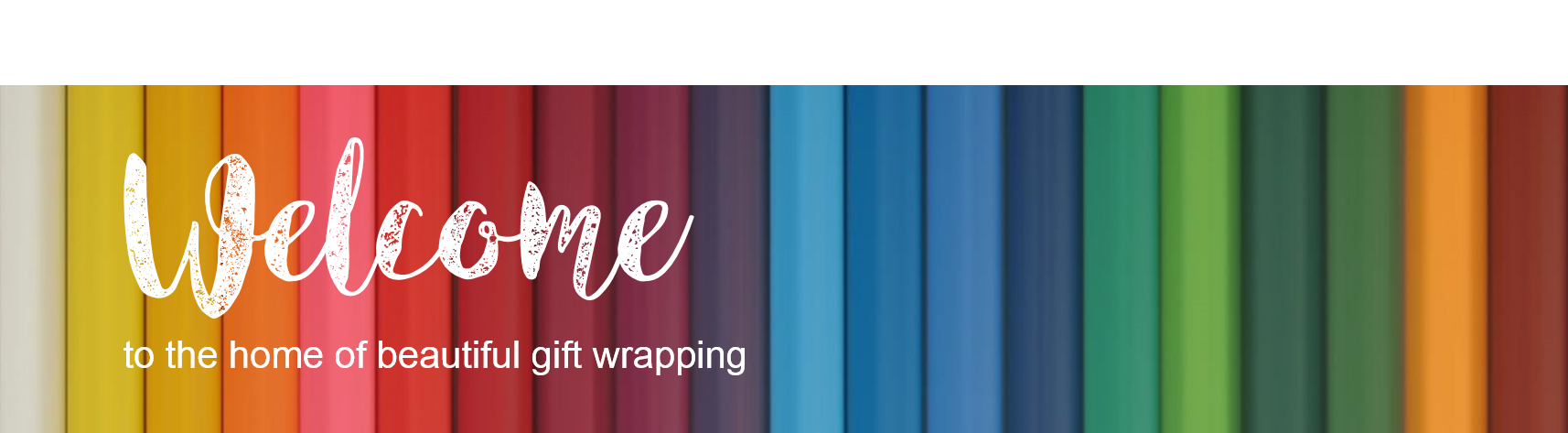 WRAPfinery homepage banner with text
