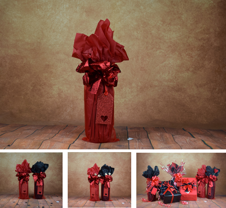 Valentines Bottle Wrap Kit – Red
