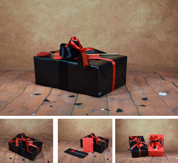 Valentines Gift Wrap Kit – Black – Product Page